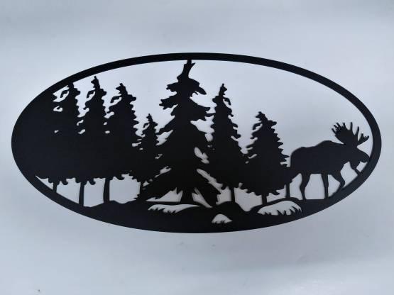 Moose in Trees scene