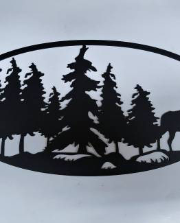 Moose in Trees scene