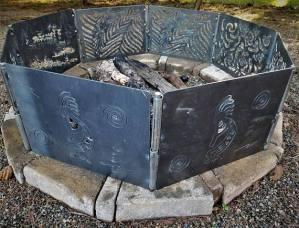 metal art fire pit