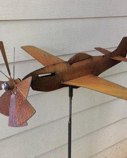 Airplane Garden Art Spinner