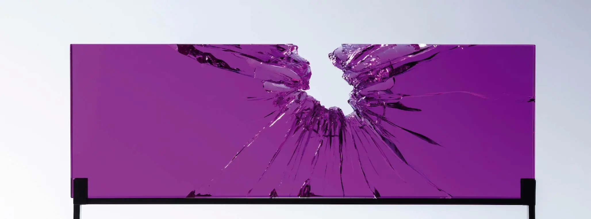 Kiley,-John,-Magenta-Fractograph-I,-Fractured-and-Reassembled-Glass