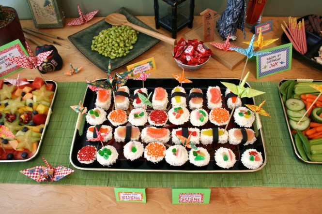 Previous Image Asian Theme And Décor Menu With Sushi Specialty