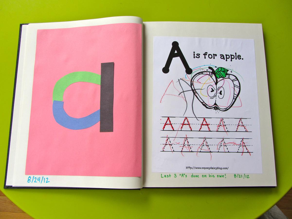 Preschool Fun Letter A For Apple