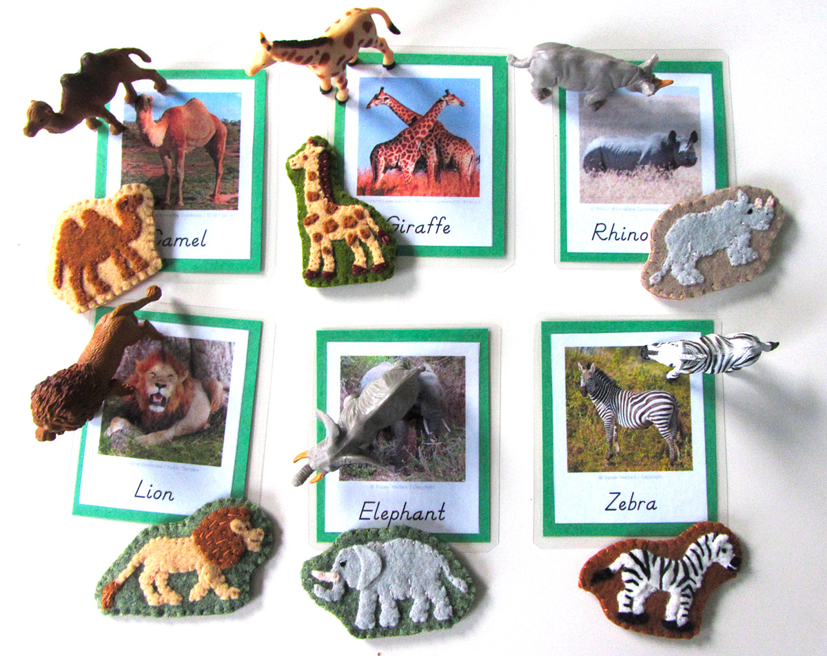 Animals Of Africa For The Montessori Wall Map Amp Quietbook