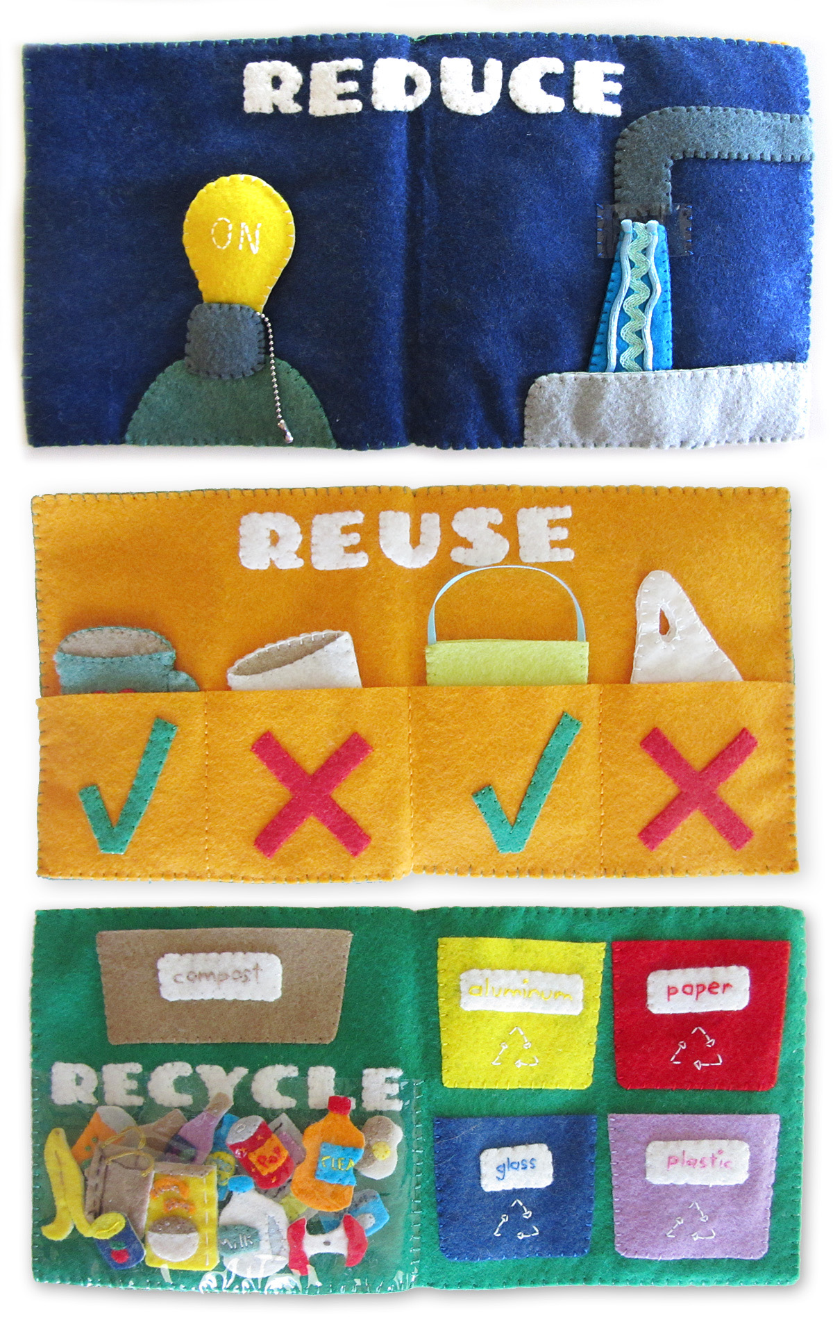 Recycling Quiet Book Set Amp Free Printables
