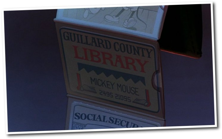 mickey mouse's library card