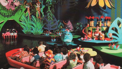 its a small world magic kingdom postcard