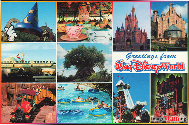 greetings from Walt Disney world postcard