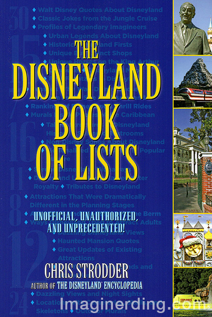 Disneyland Book of Lists by Chris Strodder