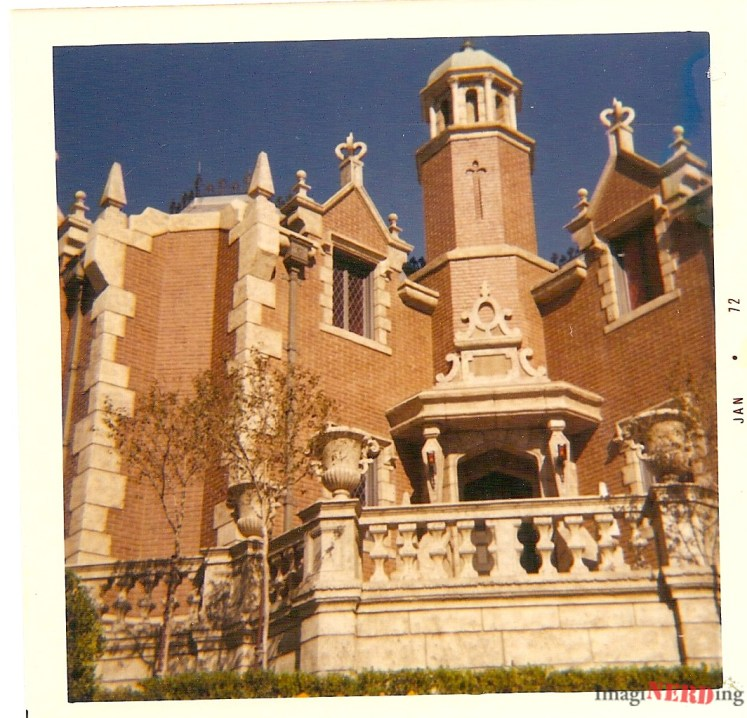 The exterior of the Haunted Mansion.