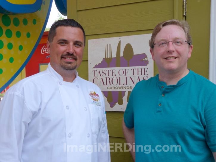 Carowinds Executive Chef Kris Siuta and George Taylor