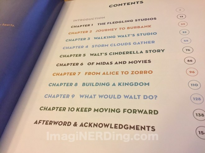 walt disney studios: a lot to remember table of contents