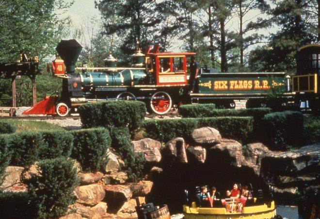 Six Flags Railroad