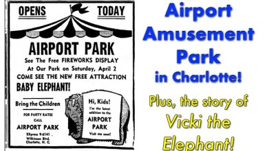 airport amusement park Charlotte