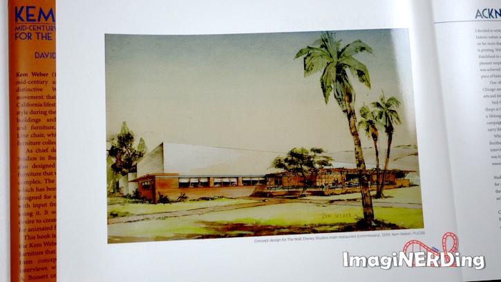 Illustration of the Disney Studios cafeteria in Burbank by Kem Weber