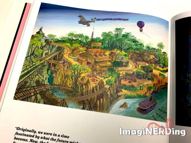 concept art of the Indiana Jones adventure at Disneyland from the book: Walt Disney's Disneyland