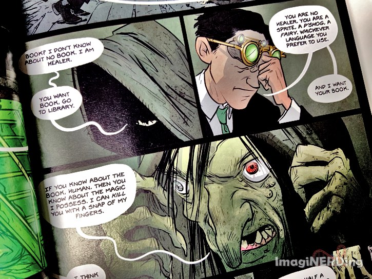 sample page from the artemis fowl graphic novel