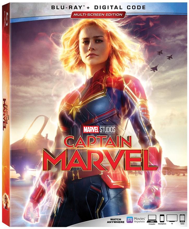Captain Marvel Blu-Ray box art