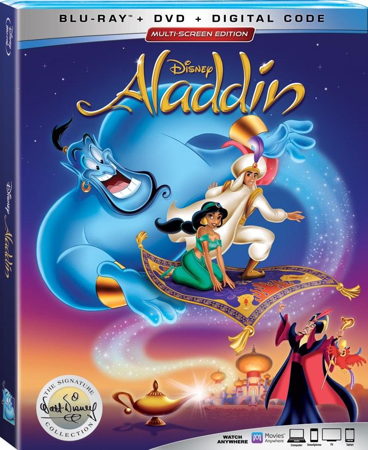 Aladdin on blu-ray