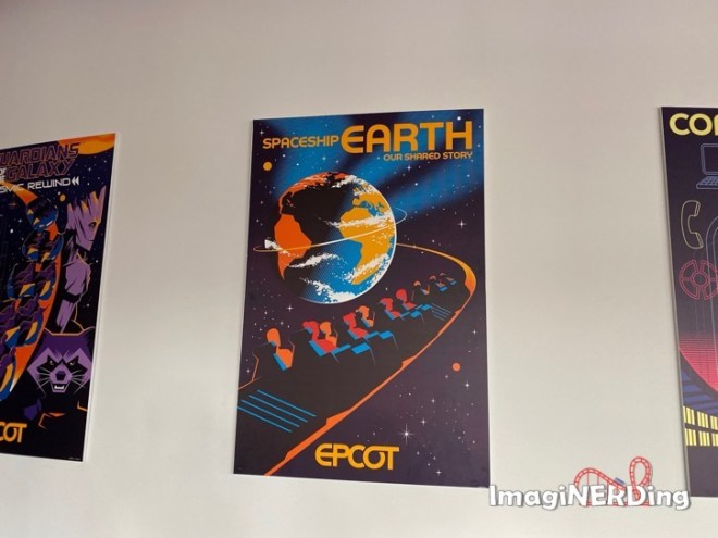 spaceship earth epcot experience attraction posters