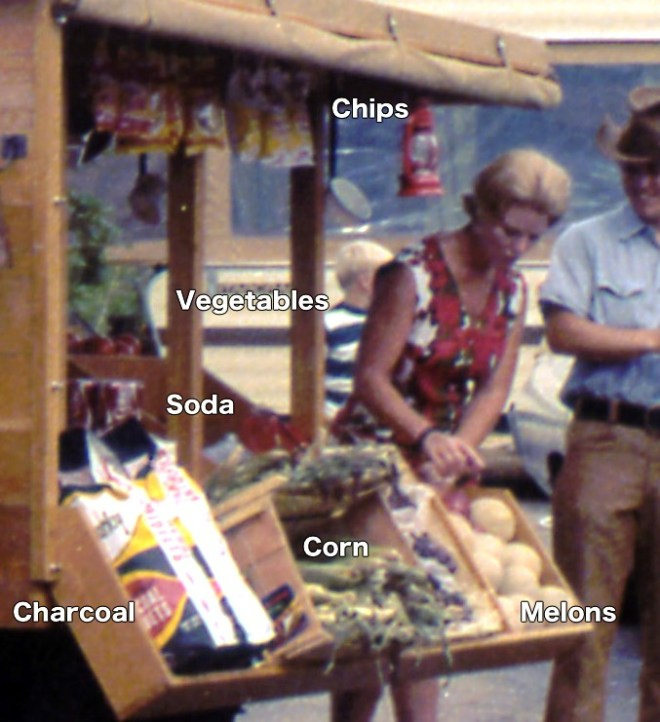 close-up image of what was for sale in the fort wilderness peddlar truck