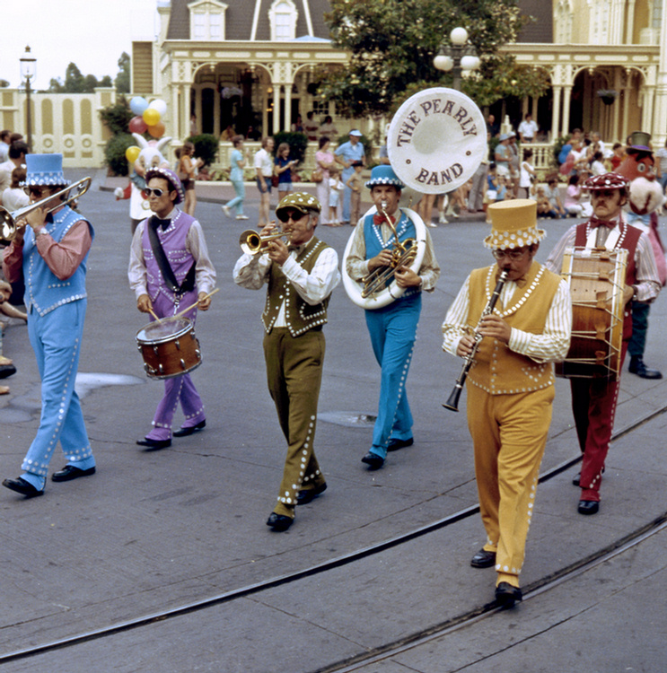 The Pearly Band at the Magic Kingdom in the early 1970s