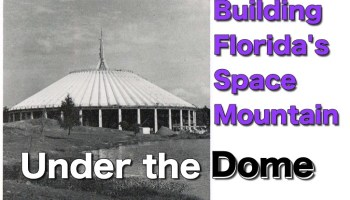 photo of space mountain under construction from 1974