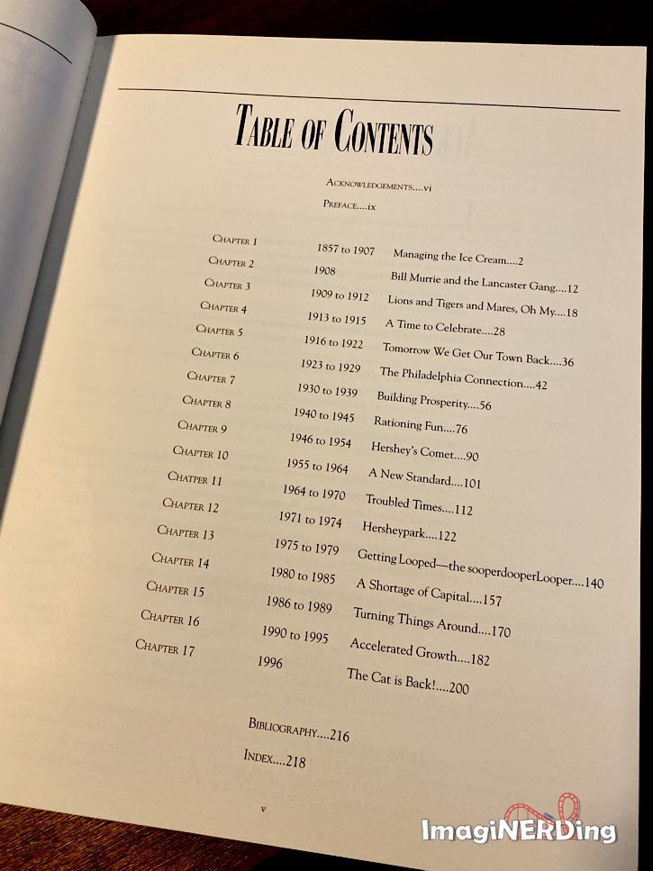 table of contents for herhsypark the sweetness of success by charles j. jacques jr