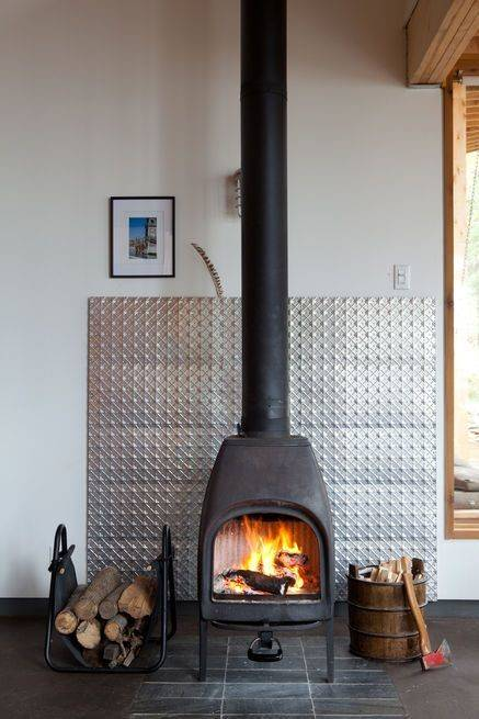 to decorate around a wood burning stove