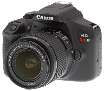 Canon T6 Review -- Product shot