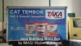 Branding Stiker Mobil Box Mitsubishi Colt (kanan) Diesel milik PT Mikatasa