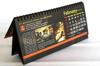 desain kalender meja