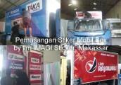 Pemasangan Stiker Mobil Box Colt Diesel PS 1100 dan Toyota Dyna di Makassar