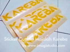 Sticker Cutting Majalah Kareba