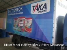 Branding Stiker Mobil Box Toyota Dyna (kanan) milik PT Mikatasa Surabaya