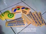 cutting sticker logo pertamina dan teks untuk helm by imagi sticker makassar
