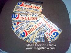 cutting sticker pesanan ninetwo english makassar - logo and cutting by imagi sticker makassar
