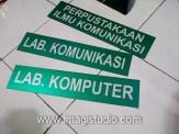 Papan Nama Ruangan Jurusan Komunikasi UMI