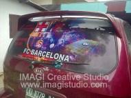 Stiker One Way Vision Kaca belakang Mobil