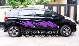 Striping Stiker Honda New Jazz RS
