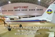 Sticker pesawat cessna