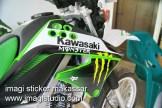 Stiker Samping Depan KLX