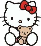 Hello Kitty dengan boneka panda