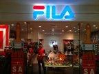letter timbul akrilik menyala logo FILA