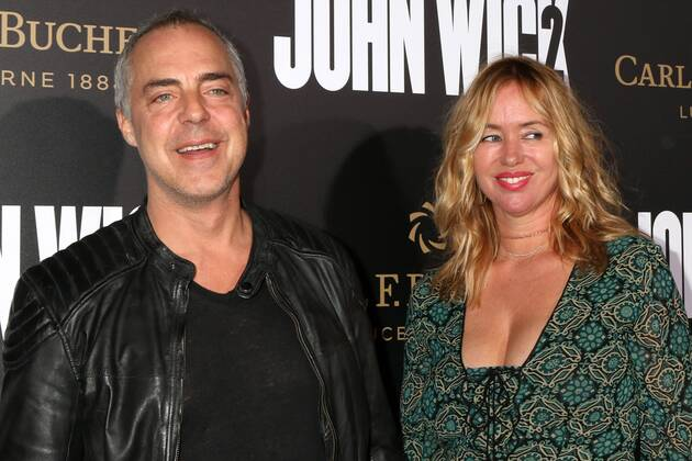 LOS ANGELES JAN 30 Titus Welliver, Jose Stemkens at the John Wick Chapter 2  Premiere at ArcLight Thea