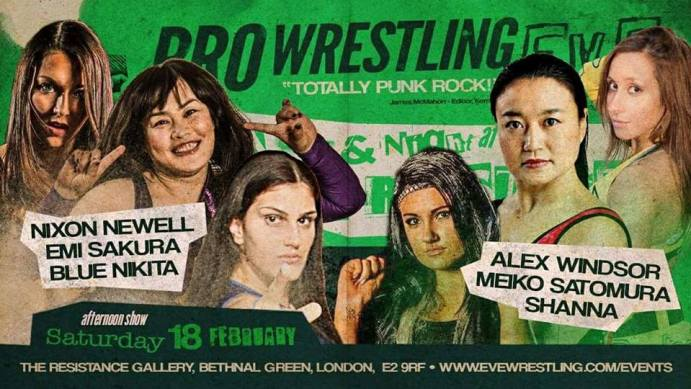 London-based women's promotion Pro Wrestling Eve welcome joshi legend Meiko Satomura in February