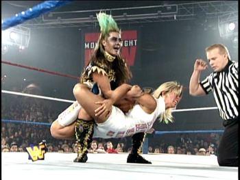 Bull Nakano gives Alundra Blayze her Scorpion Cross Lock