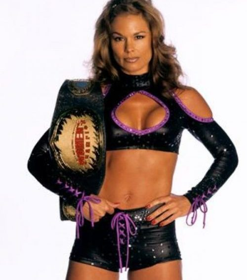 Ivory with her WWF Women's Championship
