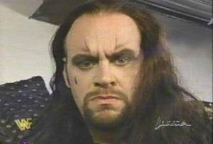 Undertaker in the Ministry of Darkness with fake eyebrows