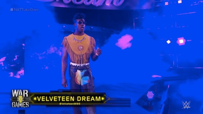 Velveteen Dream enters the NXT ring